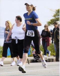 And this is me in May 2011 - running my fastest-ever 5K race. Yes, we can!