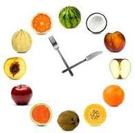 "How's this for a cute ""healthy clock"" image? Best I could find this morning..."