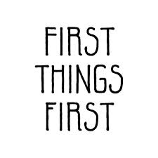 first things first words