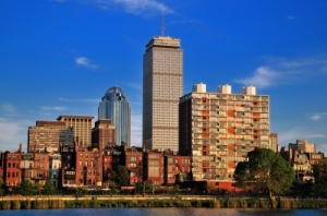 Oh, how I love this city. The big skyscraper is the Prudential Center on Boylston Street - just 600 yards or so from the finish line. Can't wait to get there next Monday! (Image courtesy of Arvind Balaraman / FreeDigitalPhotos.net)
