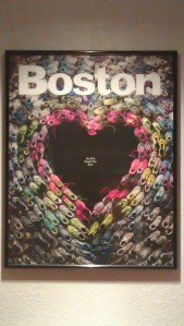 The cover of the May 2013 issue of Boston Magazine. They turned it into a poster to benefit the One Fund. It's been hanging in my home ever since.