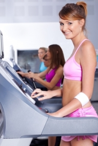 Exercise and eating well are like being on the best kind of treadmill: one feeds right into the other. (Image courtesy of photostock / FreeDigitalPhotos.net)