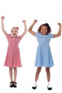 A pair of happy kids. (Image courtesy of stockimages / FreeDigitalPhotos.net)
