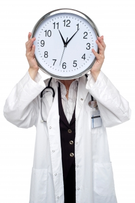 Hey, doc, how long should  I work out? Wait a second...I'm not sure that's the right question to be asking. (Image courtesy of stockimages / FreeDigitalPhotos.net)