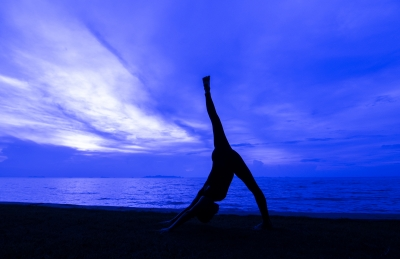 """A variation on """"downward dog."""" When you can't do downward dog, try a variation - whatever variation will get you to just get out there and do it. (Image courtesy of arztsamui / FreeDigitalPhotos.net)"""