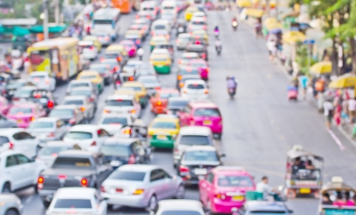Will a traffic jam upend our intrepid heroine's workout plans? Not so fast! (Image courtesy of Feelart at FreeDigitalPhotos.net)
