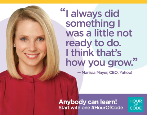 Try something new. Try something that's just a little harder than what you've done before.